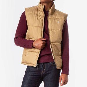 NEW U.S. Polo Assn. Men's Signature Puffer Vest L